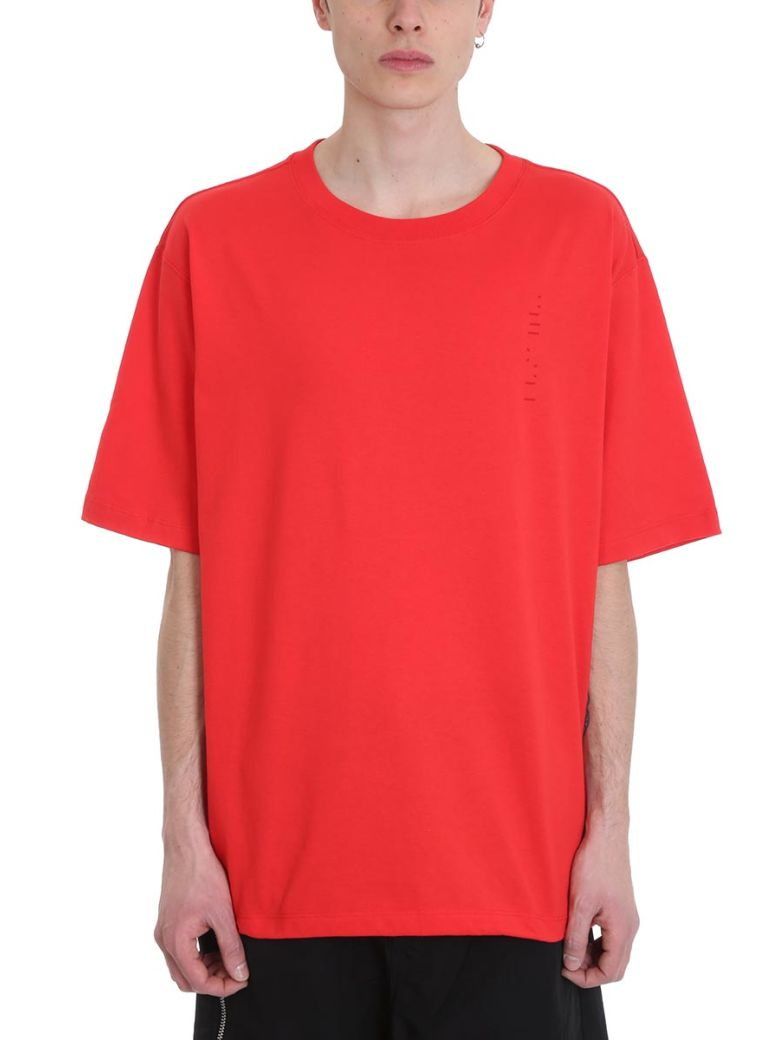 Ben Taverniti Unravel Project Red Cotton T-shirt - red