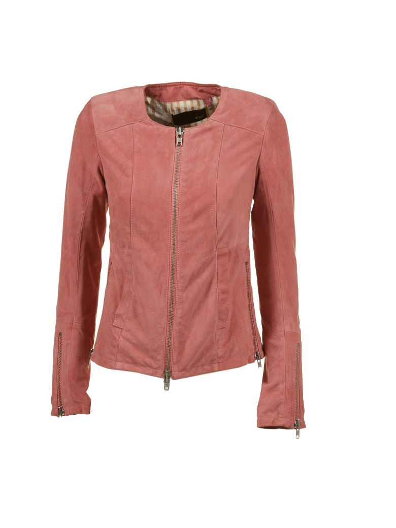 Bully Leather Jacket - Rosa scuro