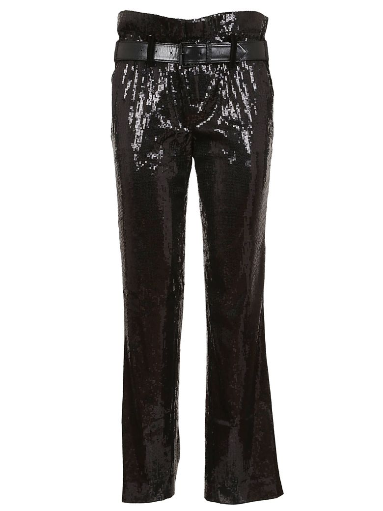 RTA Knitted Belted Sequined Trousers - Basic