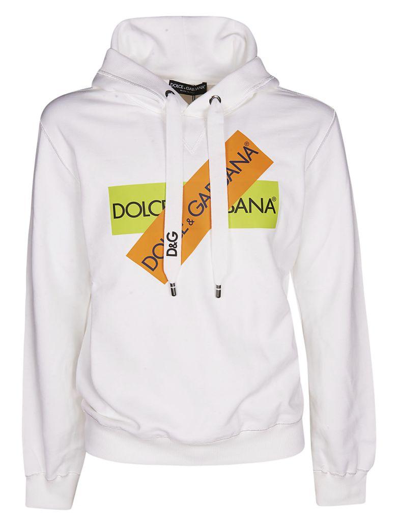 Dolce & Gabbana Logo Print Hoodie - White