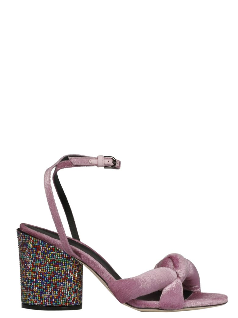 Marco De Vincenzo EMBELLISHED HEEL SANDALS