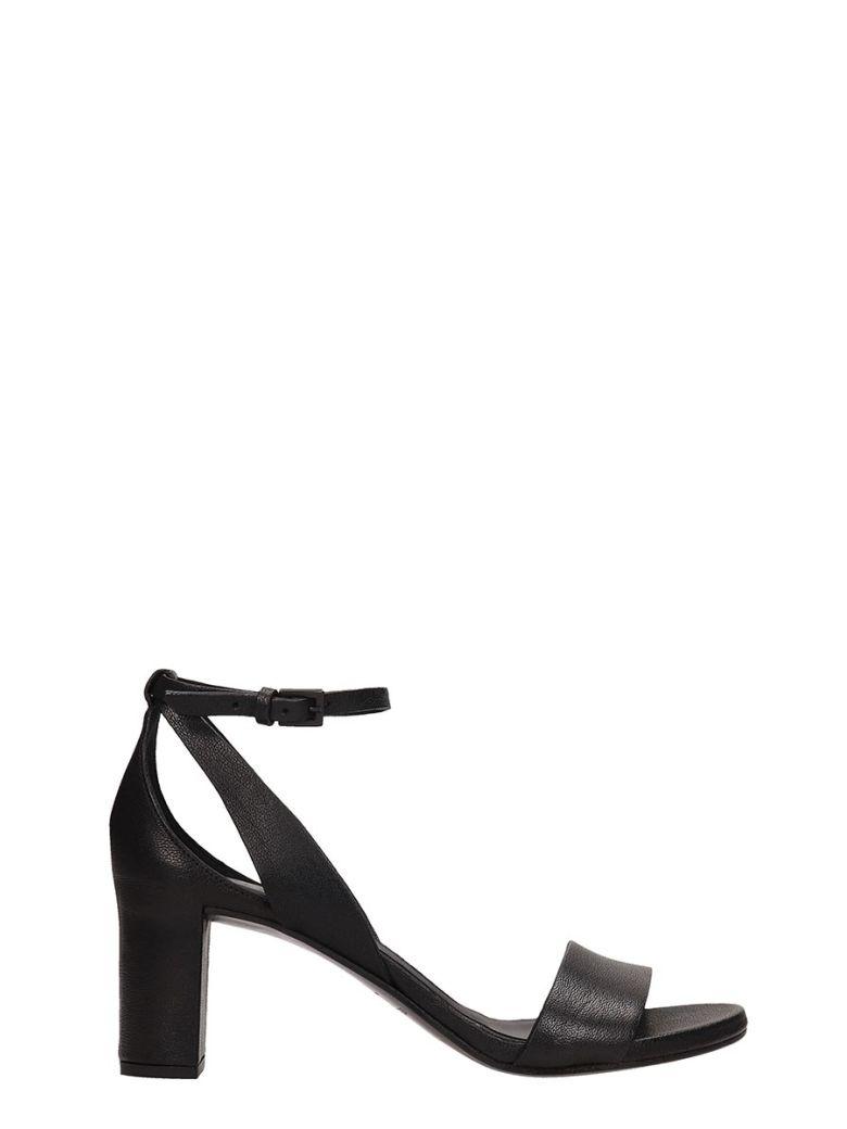 Roberto del Carlo Black Calf Leather Sandals - black