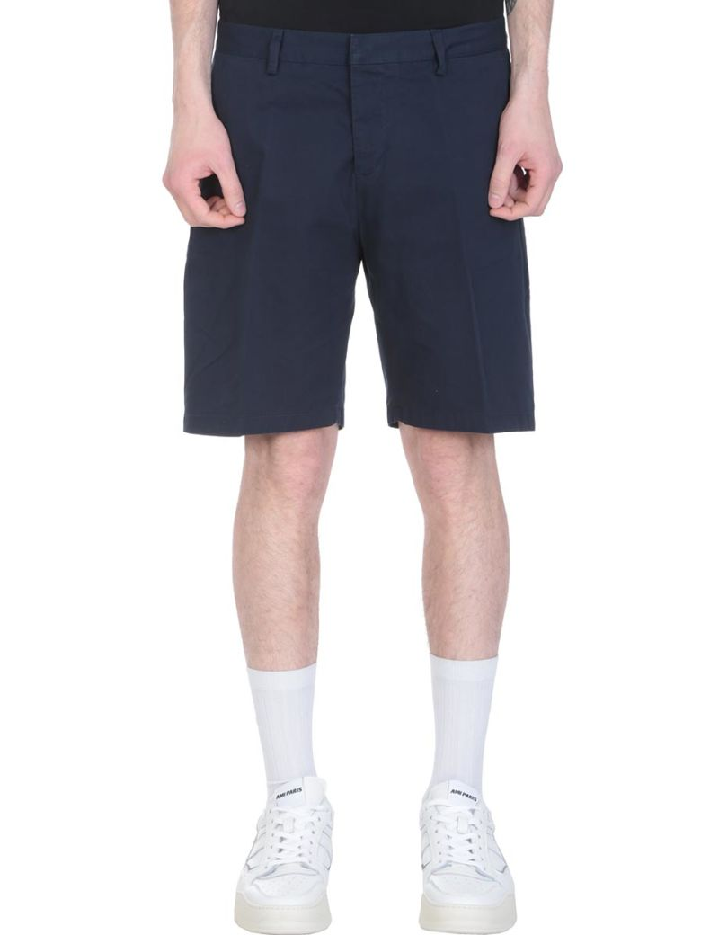 Ami Alexandre Mattiussi Blue Cotton Shorts - blue