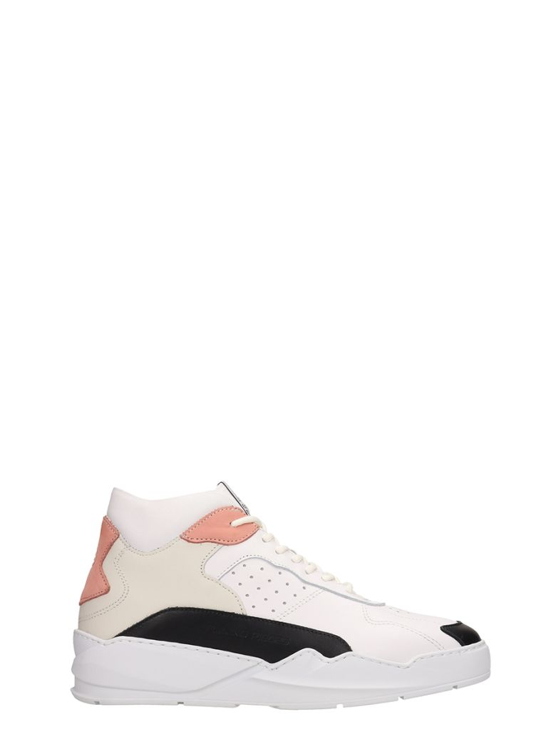 Filling Pieces White-pink Leather Lay Up Ices Sneakers - White