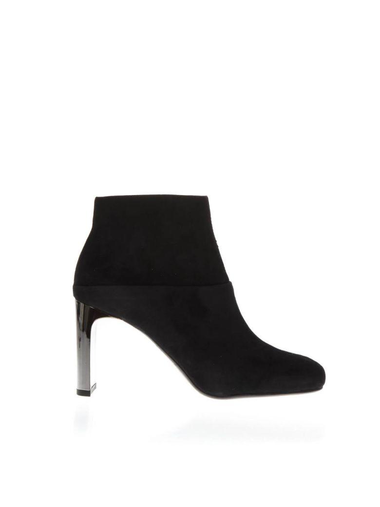 Lola Cruz Black Suede Ankle Boots - Black