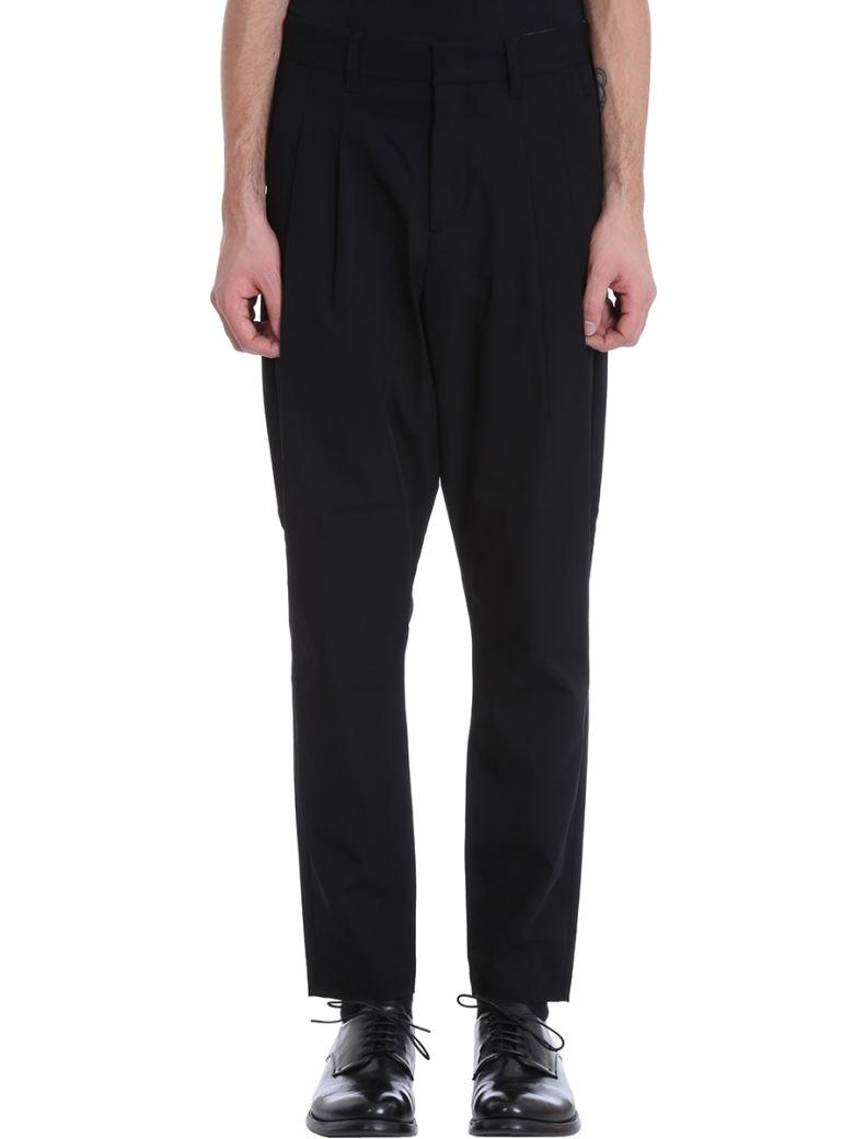 Attachment Black Cotton Pants - black