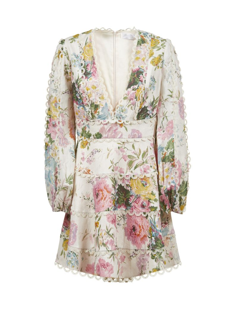 Zimmermann Floral Print Dress - Avorio multicolor