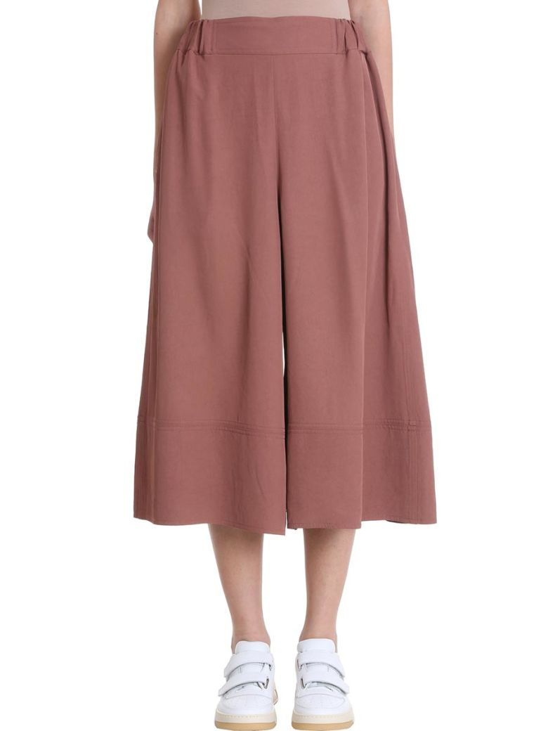 Acne Studios Polly Fluid Twill Dusty Pink Trousers - rose-pink