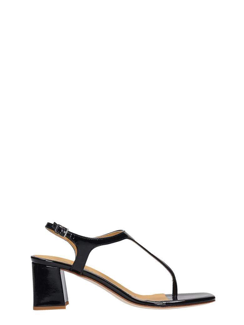 Fabio Rusconi Sandals In Black Patent Leather - black
