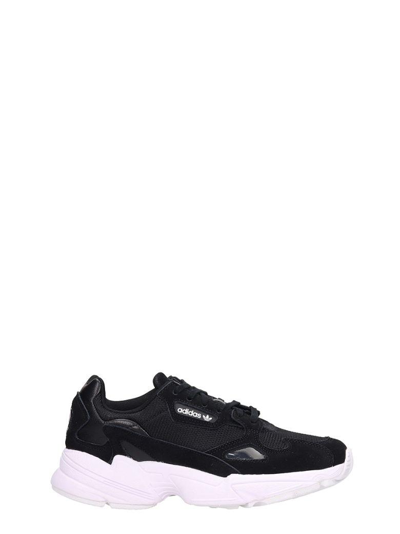 Adidas Falcon W Black Fabric Sneakers - black