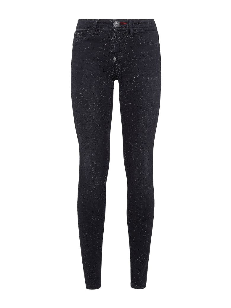 Philipp Plein Black Cotton Jeans Jeggings - Black