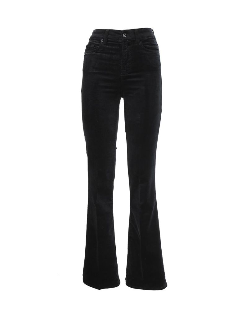 Seven London Seven black velvet Trousers - Nero