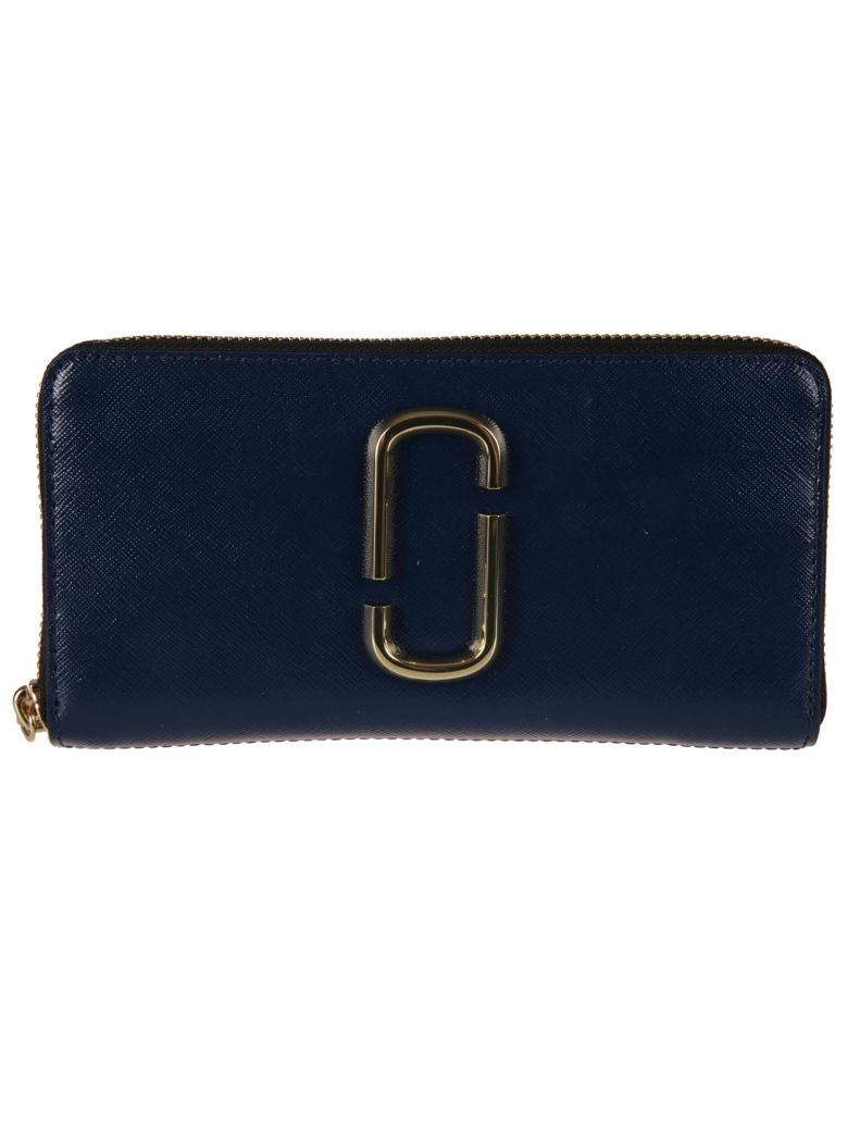 Marc Jacobs Logo Plaque Zip Around Wallet - Blue sea multi