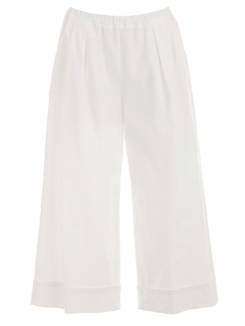 Hache Flared Trousers - White