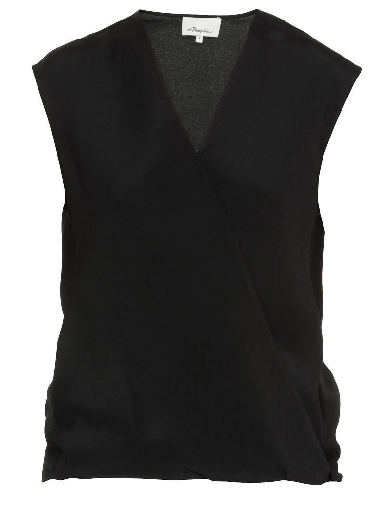 3.1 Phillip Lim Silk Top - BLACK