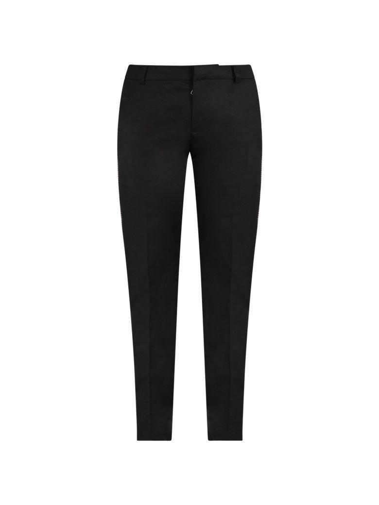 Balmain Black Girl Pants With Stripes - Black