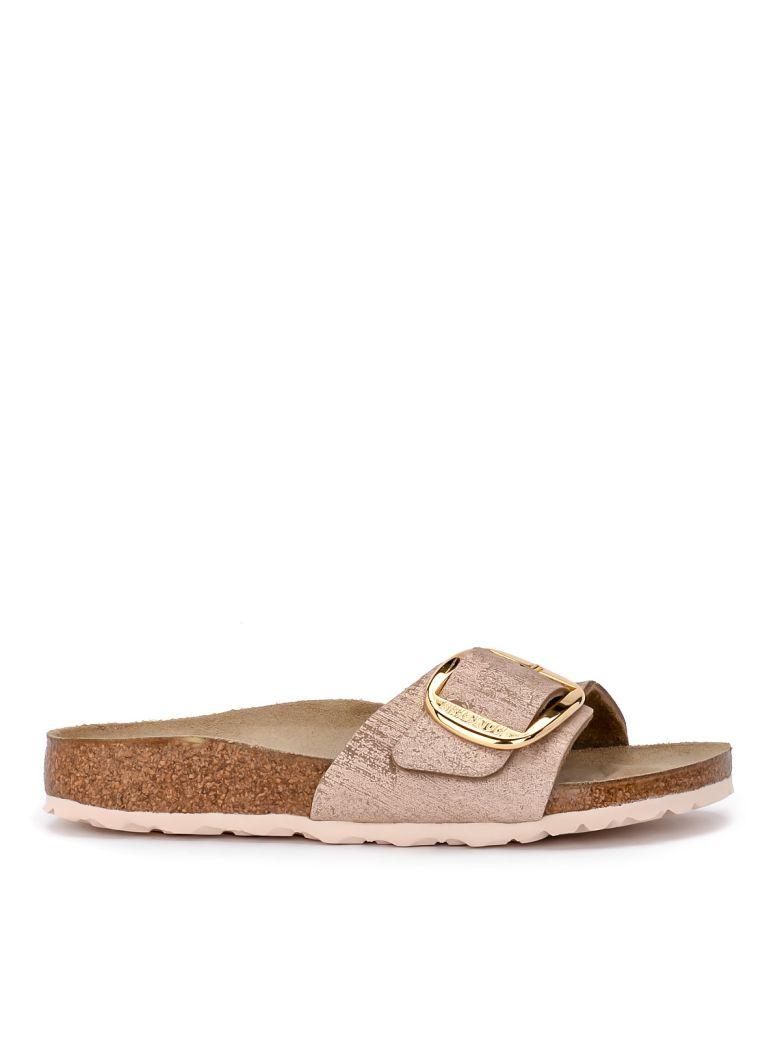 Birkenstock Madrid Big Buckle Pale Pink Laminated Leather Sandal - ROSA