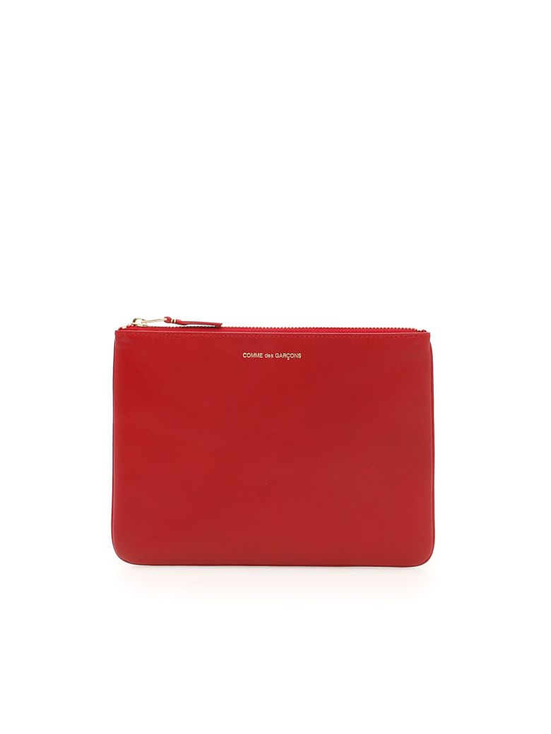 Comme des Garçons Wallet Unisex Classic Pouch - RED|Rosso