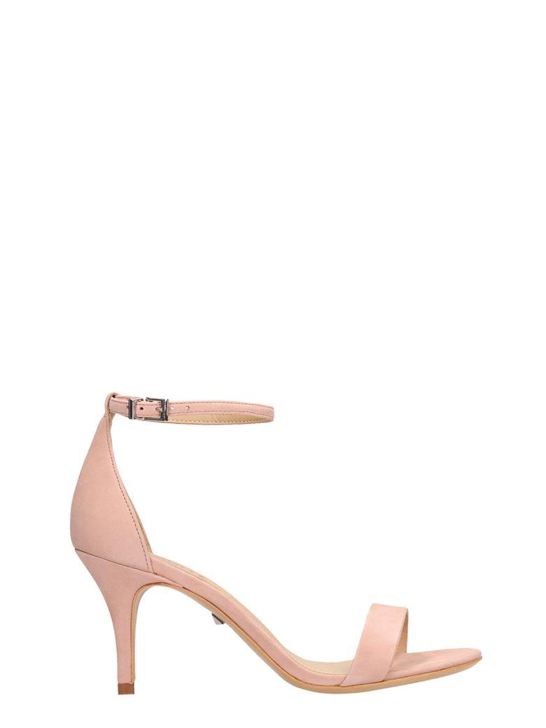 Schutz Pink Suede Leather Sandals - rose-pink