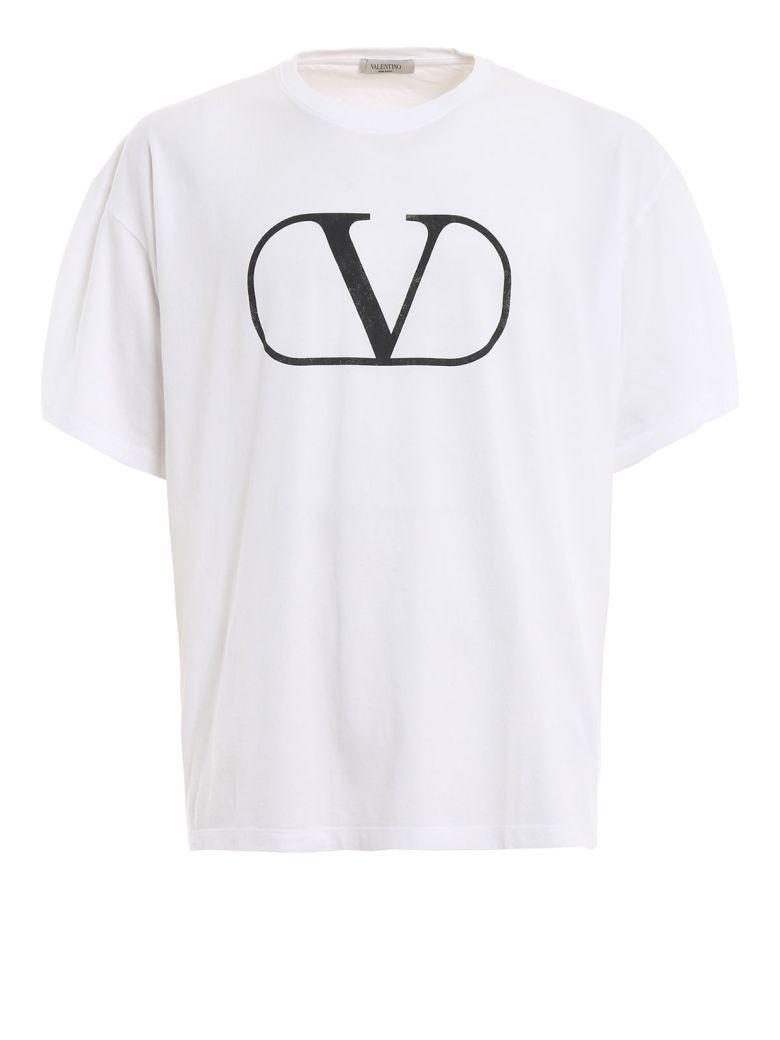 Valentino Logo Print T-shirt - White