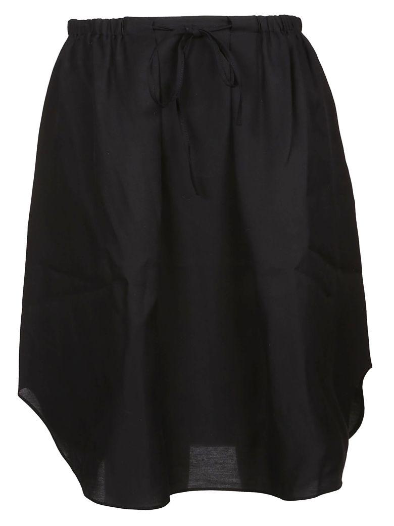 Jil Sander Navy A-line Midi Skirt - Basic