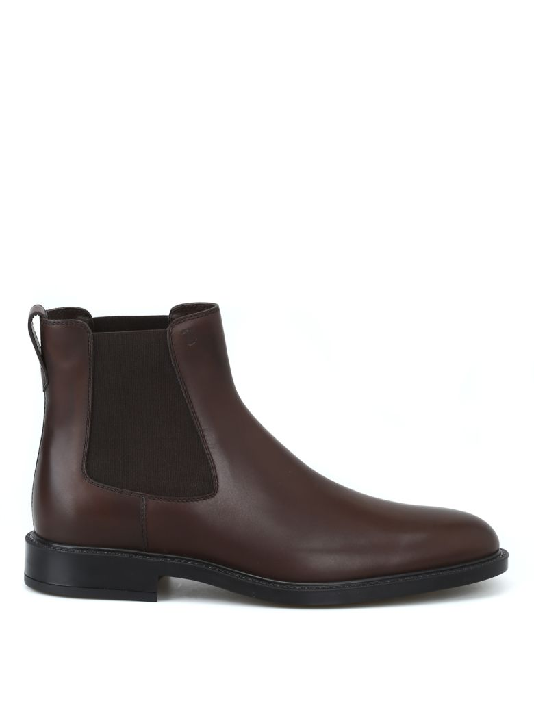 Tod's Ankle Boots In Leather - Brown