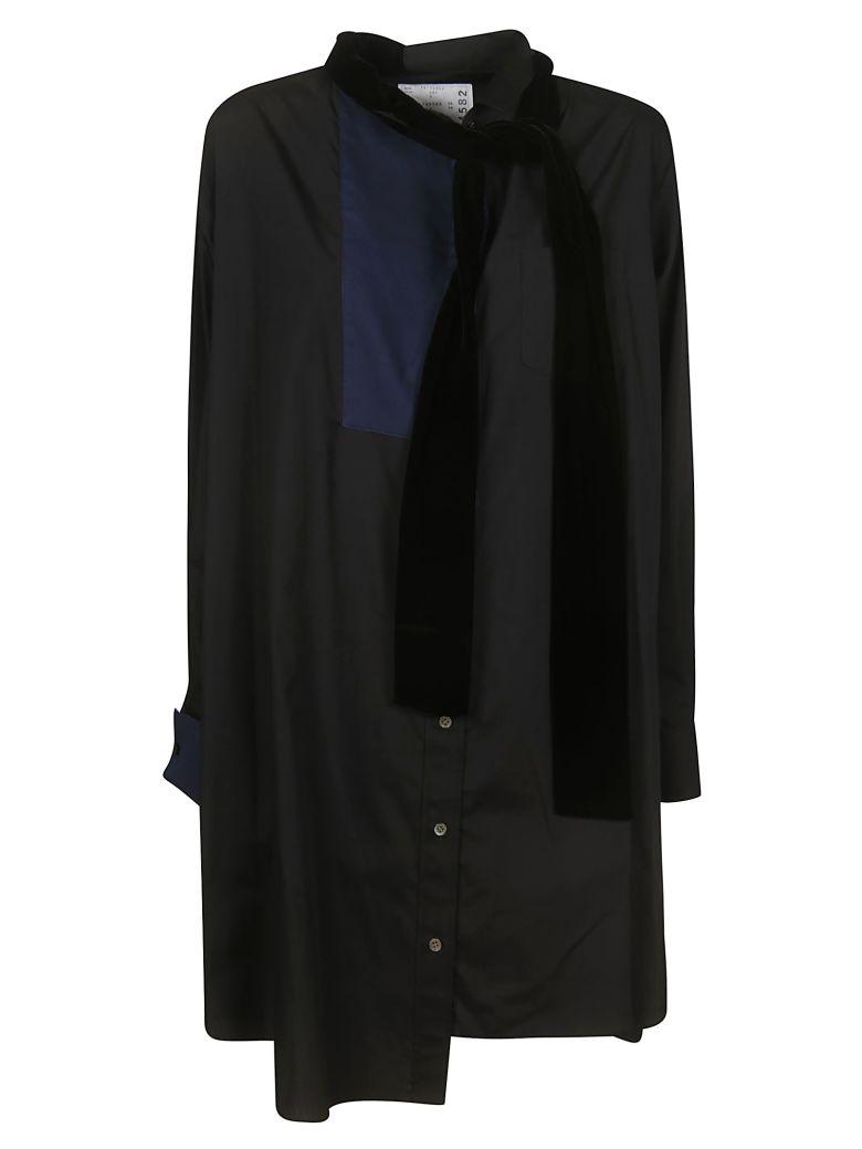 Sacai Lace-up Detail Oversized Shirt - Black