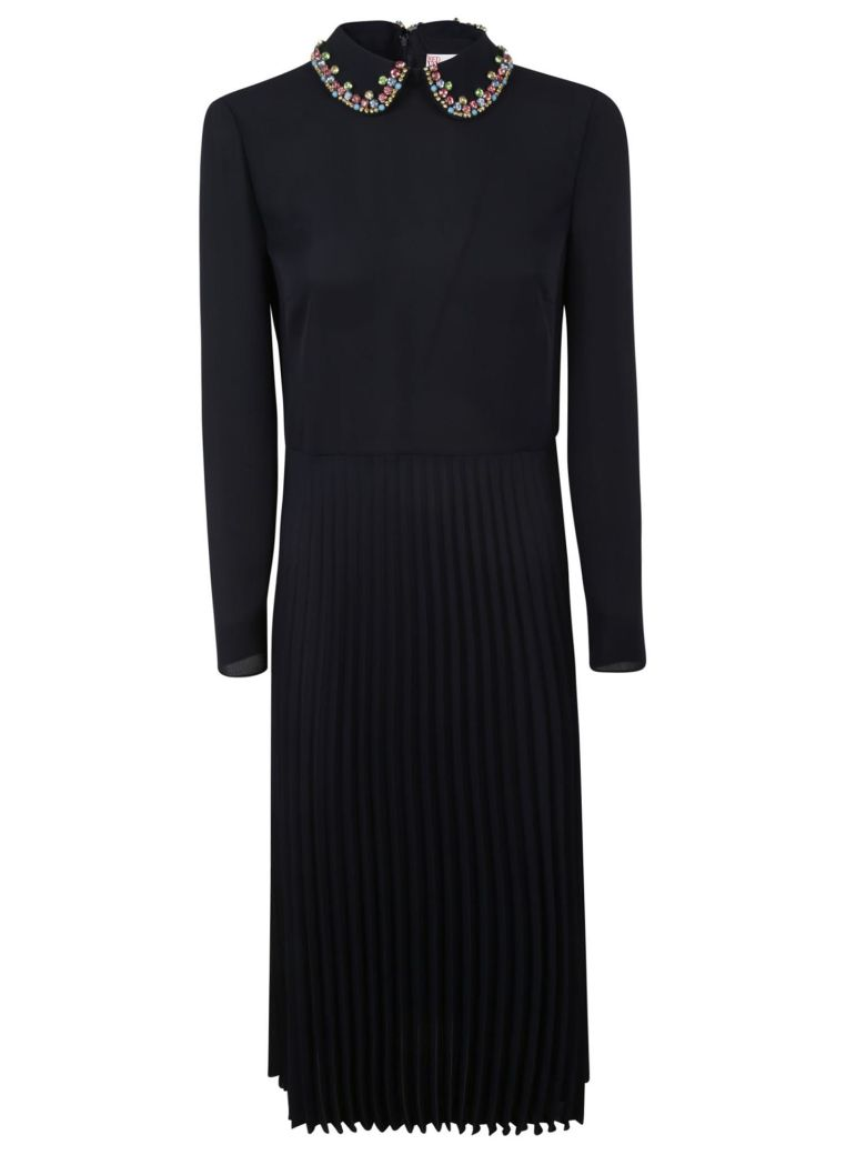 RED Valentino Double Georgette Dress - Blue