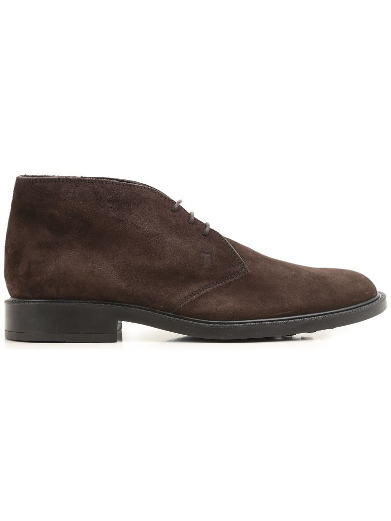 Tod's 45a Suede Desert Boots - Brown