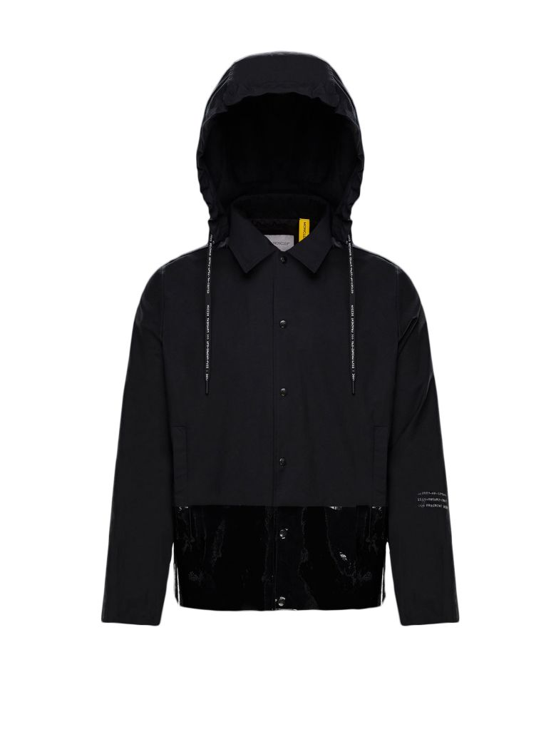 Moncler Genius Logo Print Jacket - Black