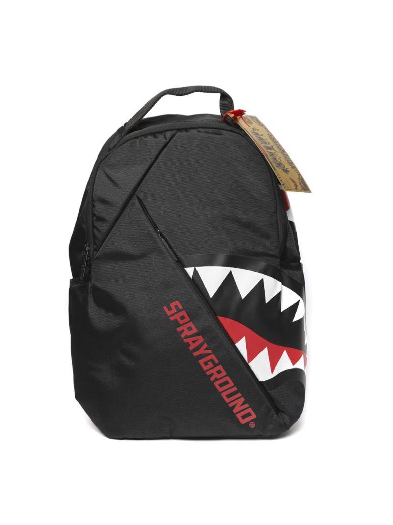 Sprayground Angled Ghost Shark Black Backpack - Black