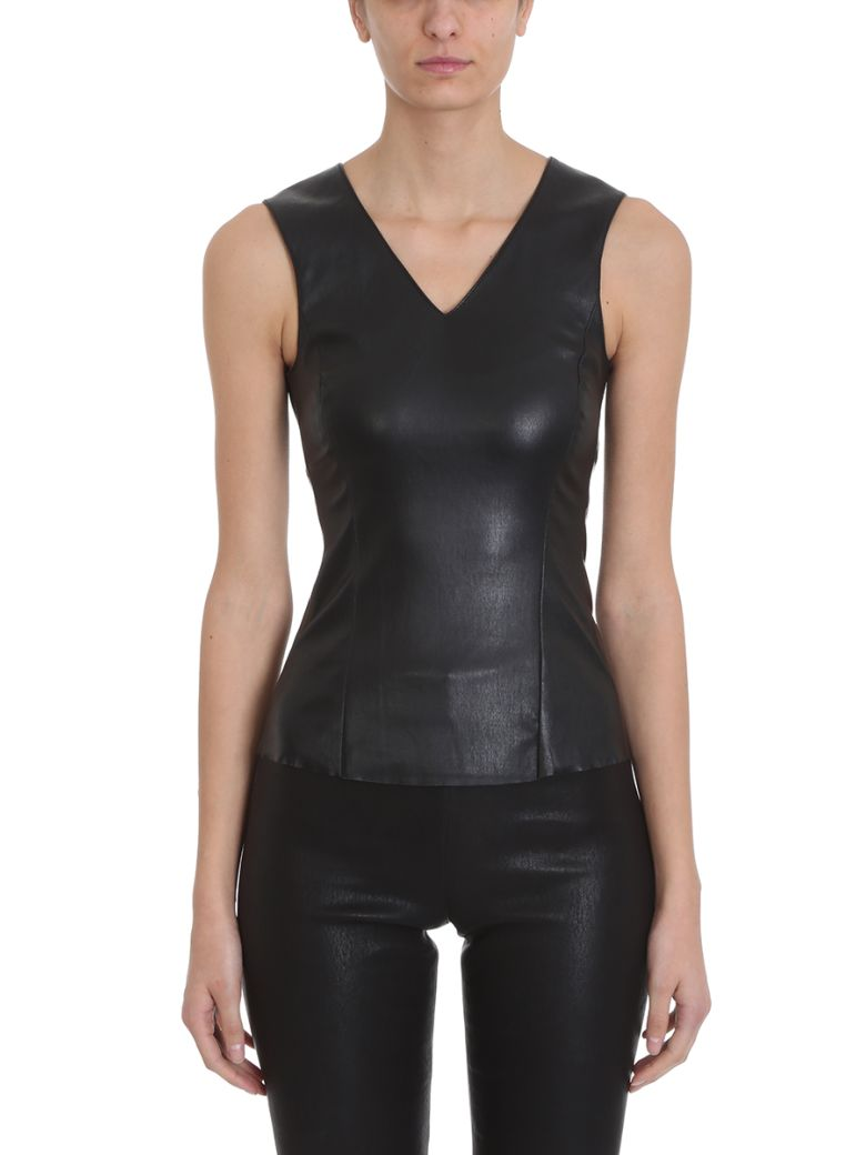 DROMe V Neck Top - black