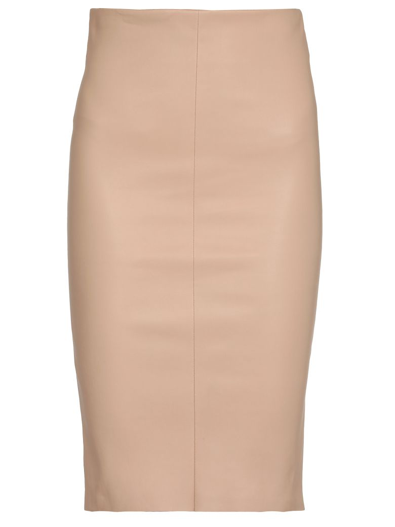 DROMe Leather Skirt - Beige