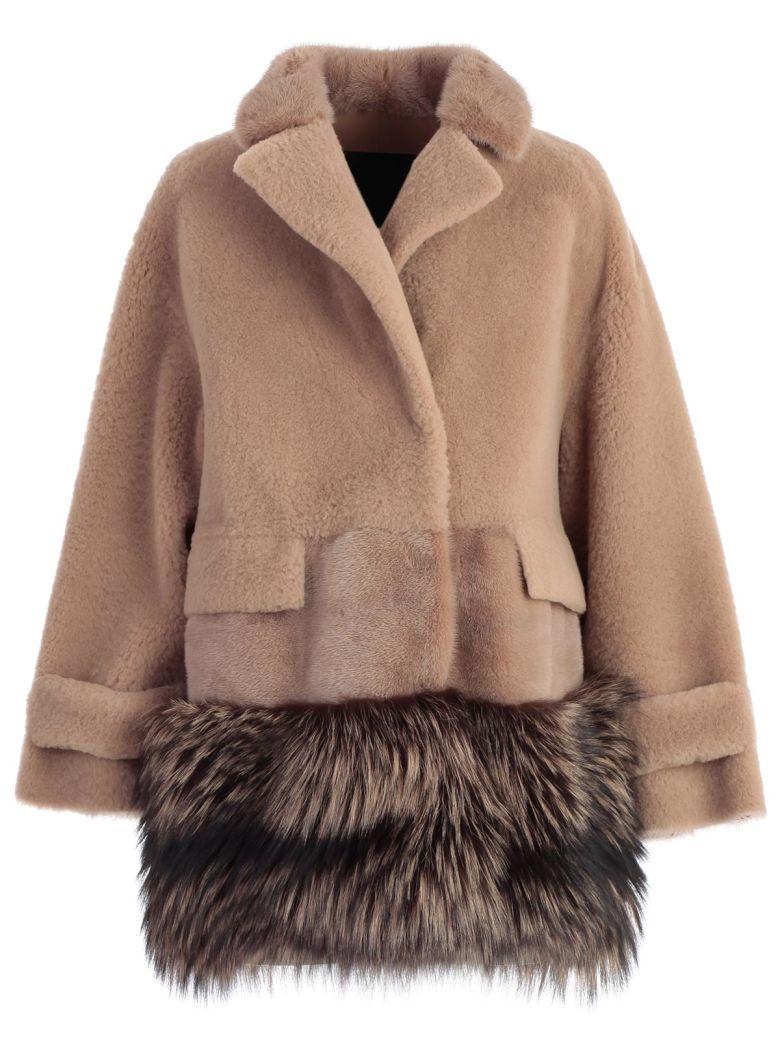 Blancha Fur Paneled Jacket - Birch