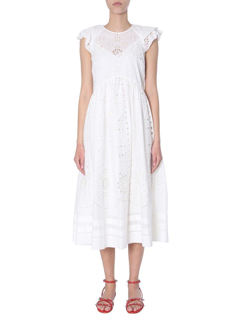 RED Valentino Cotton Voile Dress - BIANCO