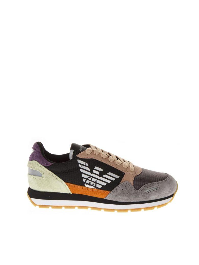 Emporio Armani Multicolor Fabric & Leather Sneakers - Multicolor