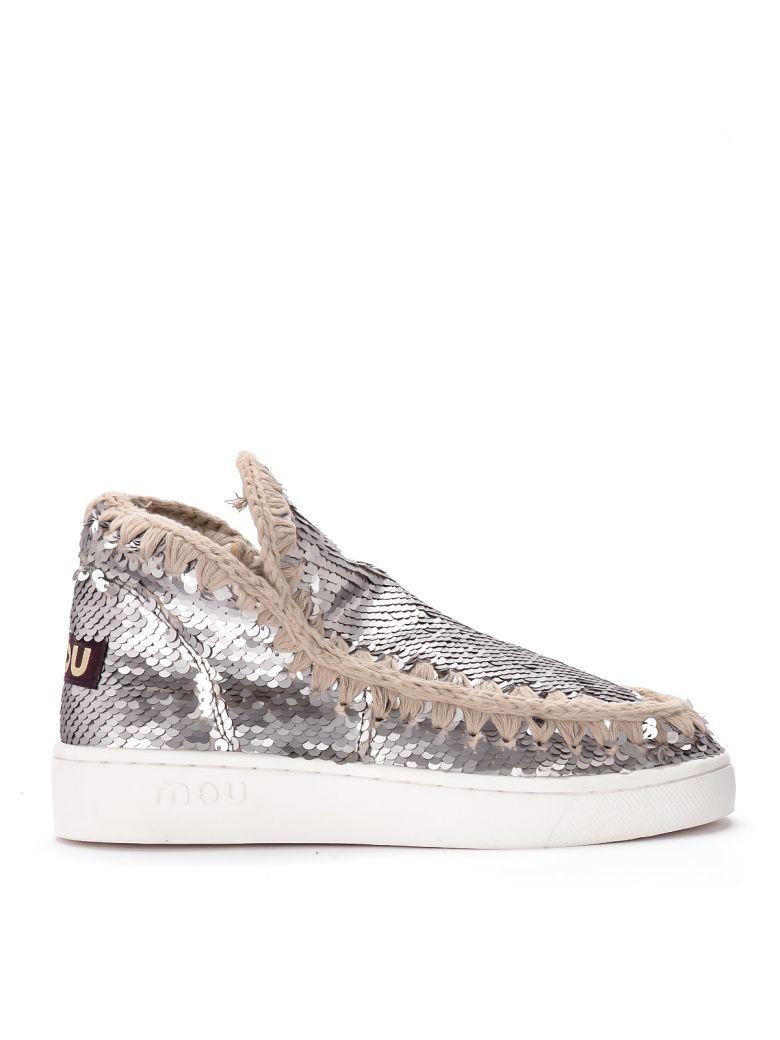 Mou Mini Eskimo Grey Paillettes Ankle Boots. - GRIGIO