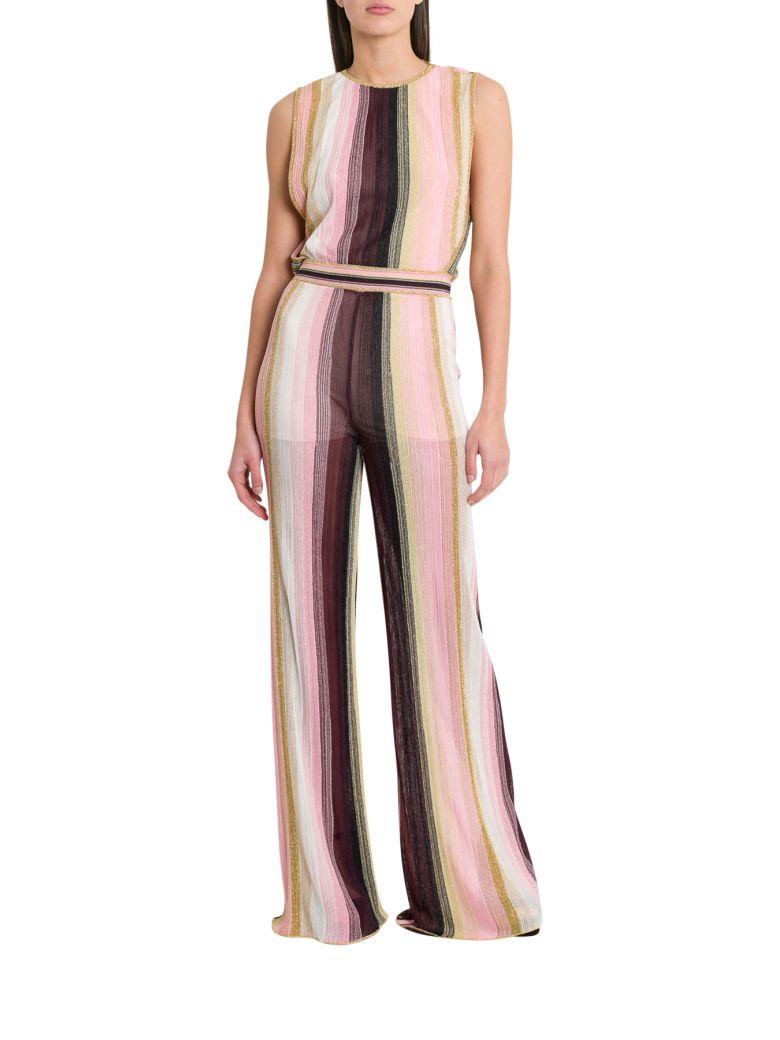 M Missoni Striped Lurex Jumpsuit - Multicolor