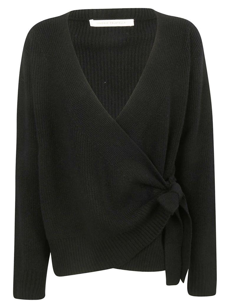 Saverio Palatella Tie Detail Sweater - Black