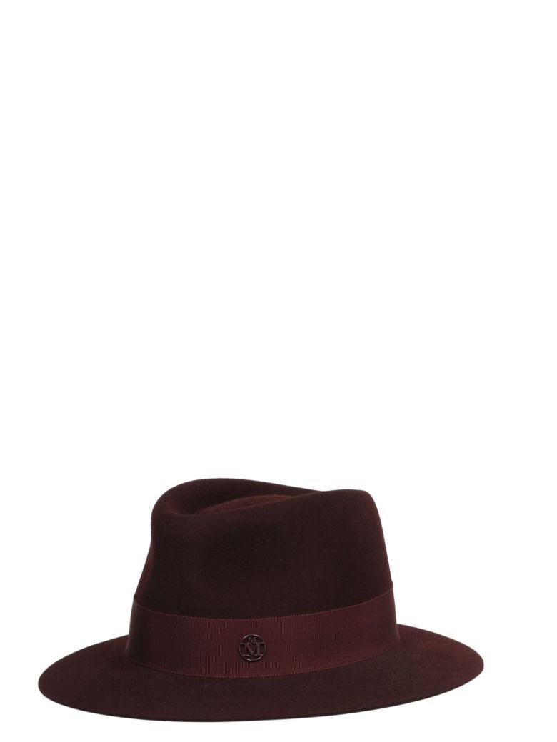 Maison Michel Hat - Red Black