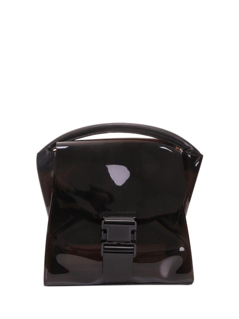 Zucca Black Pvc Buckled Bag - Black
