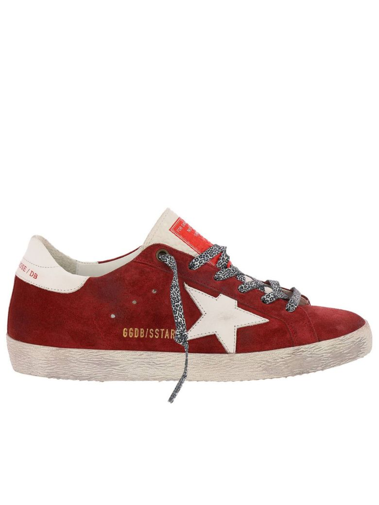 Golden Goose Sneakers Shoes Women Golden Goose - burgundy
