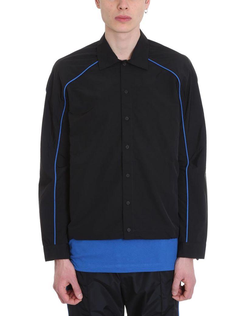 Ben Taverniti Unravel Project Black Nylon Shirt - Black