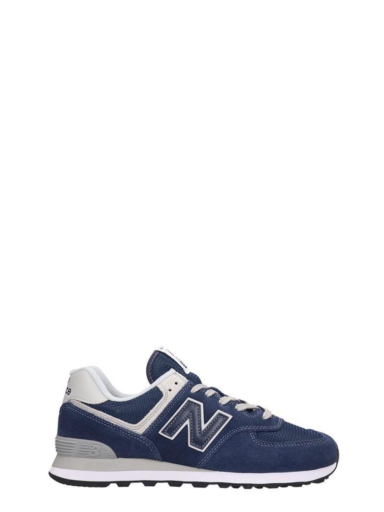 new balance 574 blue suede
