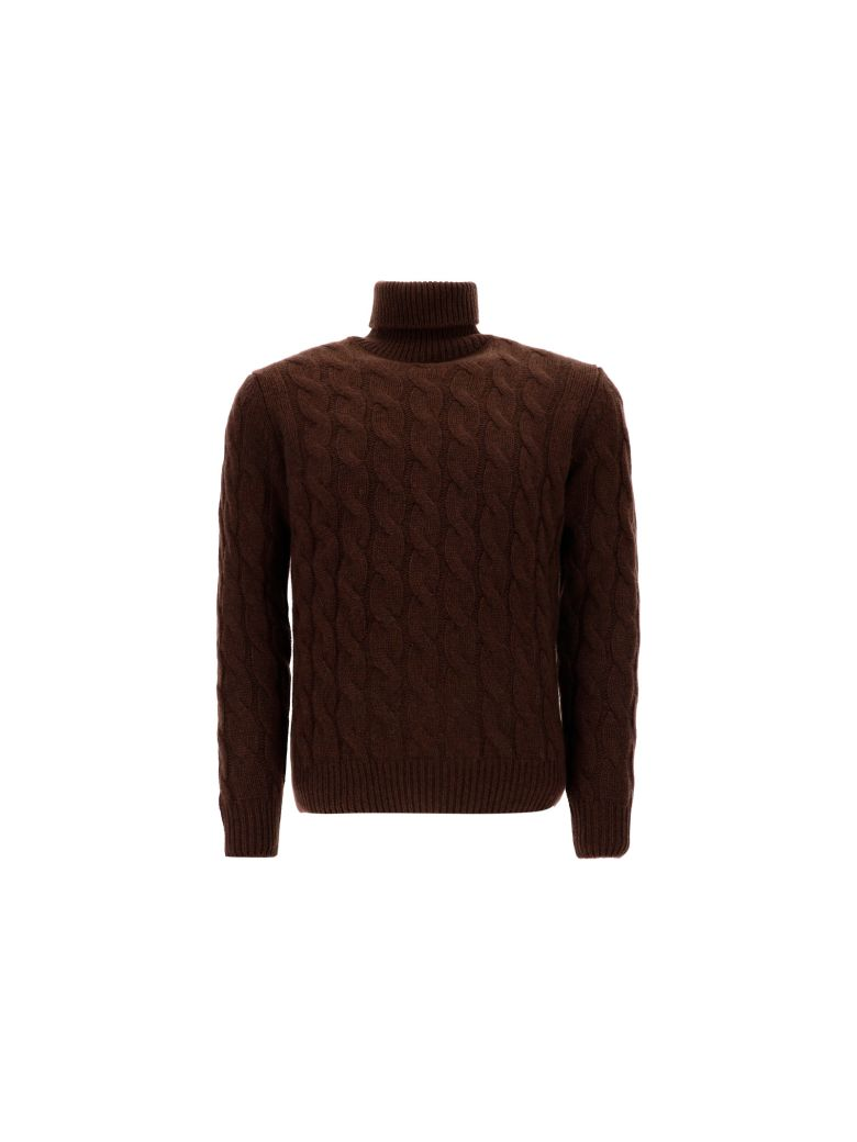 Lardini Turtleneck Sweater - Brown