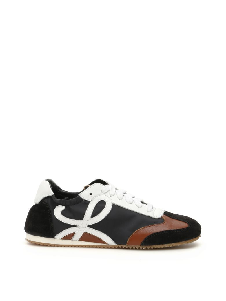 Loewe Tricolor Monogram Sneakers - BLACK WHITE BROWN (Brown)