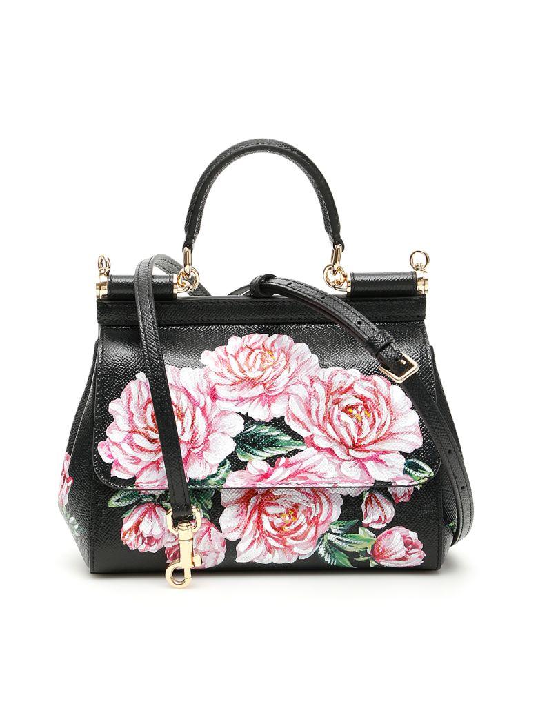 Dolce & Gabbana Peonies Small Sicily Bag - Basic