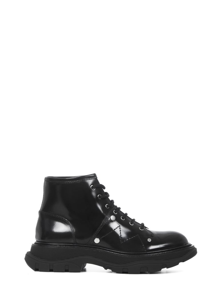 Alexander McQueen Boots - Black/silver