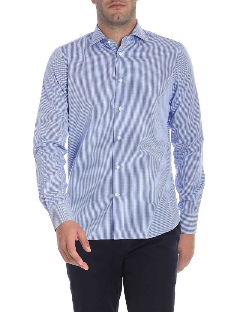 G. Inglese Cotton Shirt - Light blue