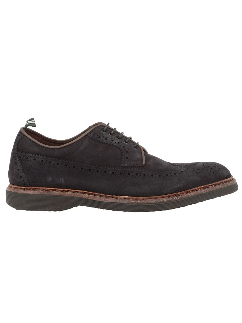 Green George Leather Lace-up Shoes - NAVY
